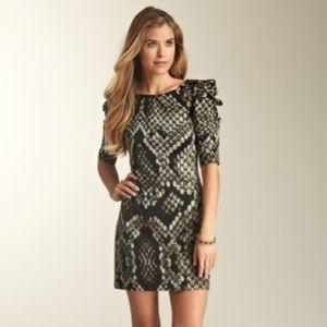 Jessica Simpson Anaconda Snake Skin Dress Sz 12